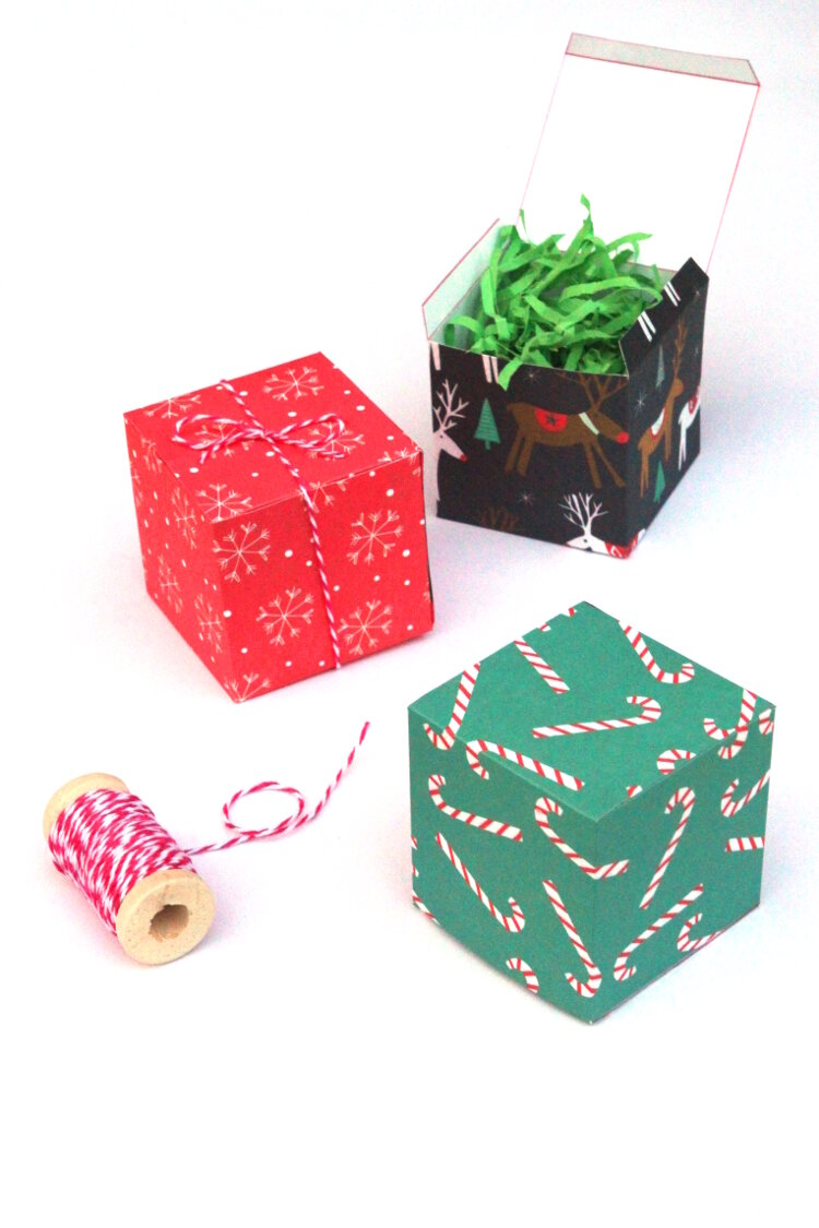 Paper crafts valentine gift box template easy tutorial making diy ... | 1125x750