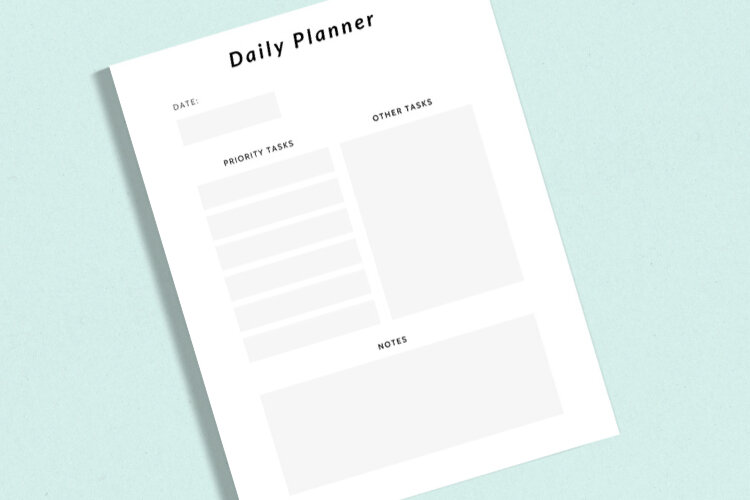 Free Printable Minimalist Daily Planner Gathering Beauty