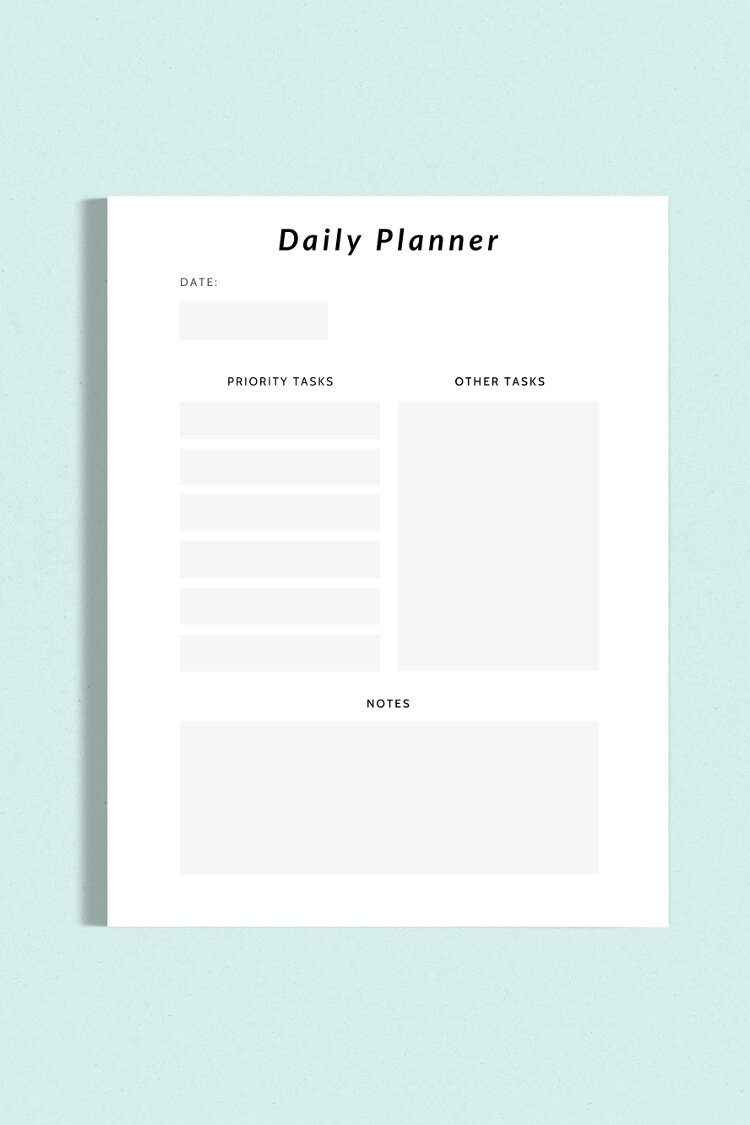 FREE PRINTABLE MINIMALIST DAILY PLANNER. — Gathering Beauty
