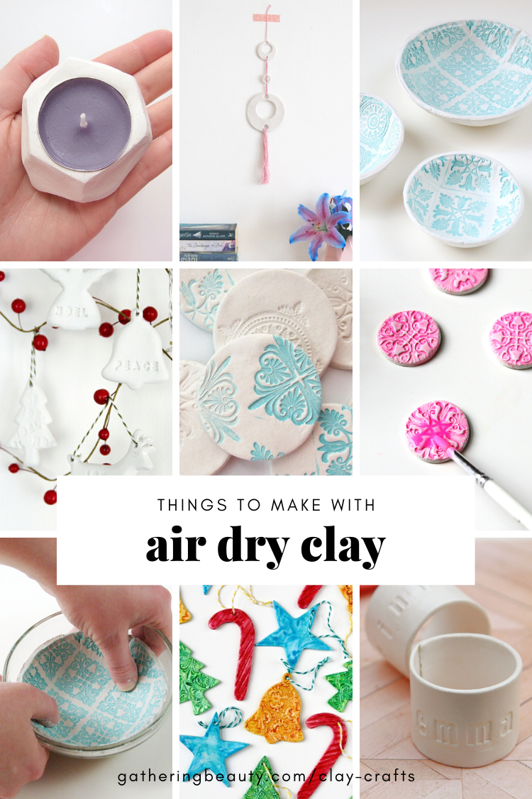 Air Dry Clay Crafts Gathering Beauty