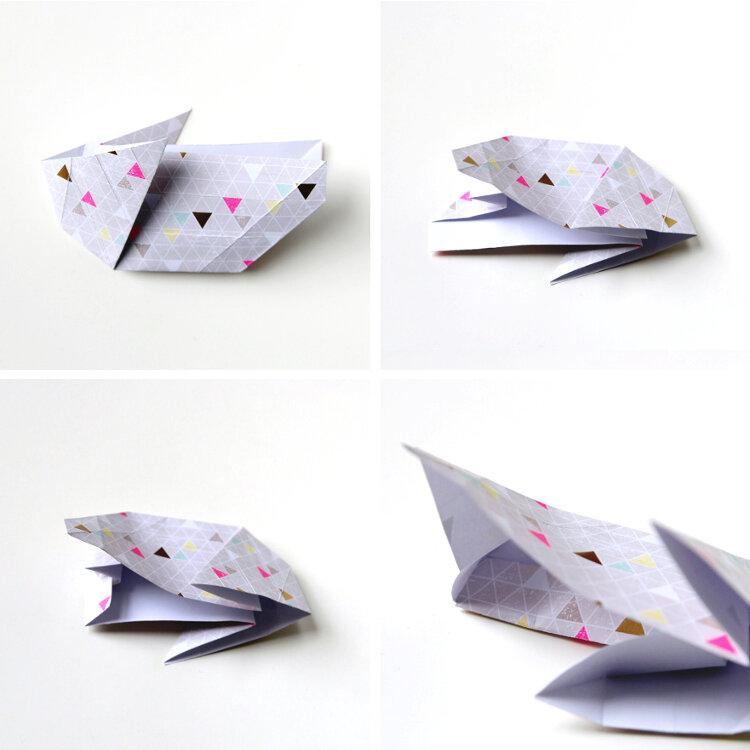 Origami Bunny Rabbit Envelope V2 Tutorial - DIY - Paper Kawaii ... | 750x750