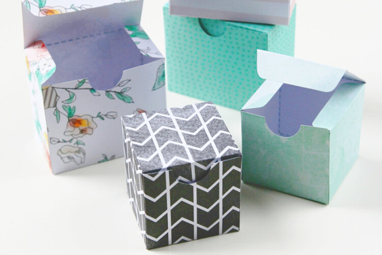 4 inch square DIY box template Instant Download Penguins Printable Gift Box Template 1 inch tall gift box