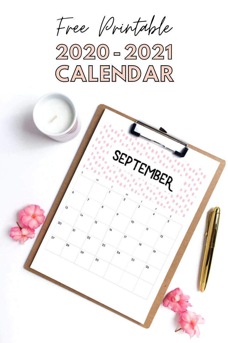 Blank Summer Calendar 2021 FREE PRINTABLE 2020 2021 CALENDAR. — Gathering Beauty