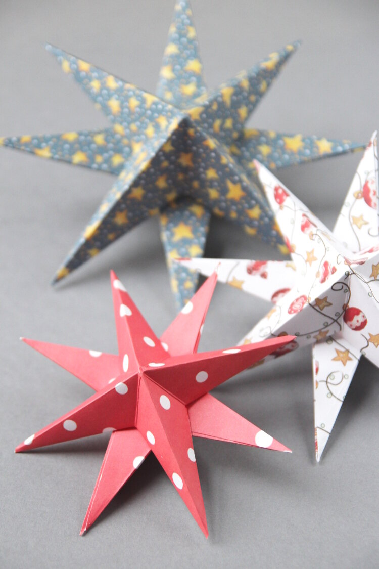 Paper Star Christmas Decorations