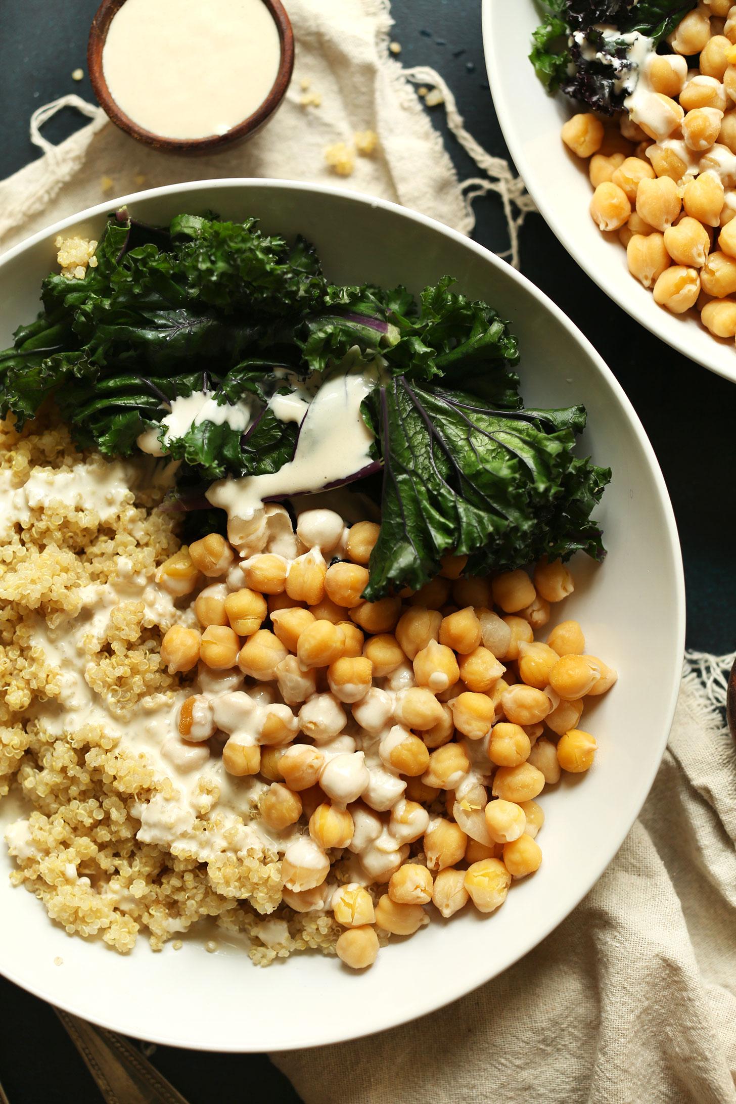 http://minimalistbaker.com/quinoa-chickpea-buddha-bowl/