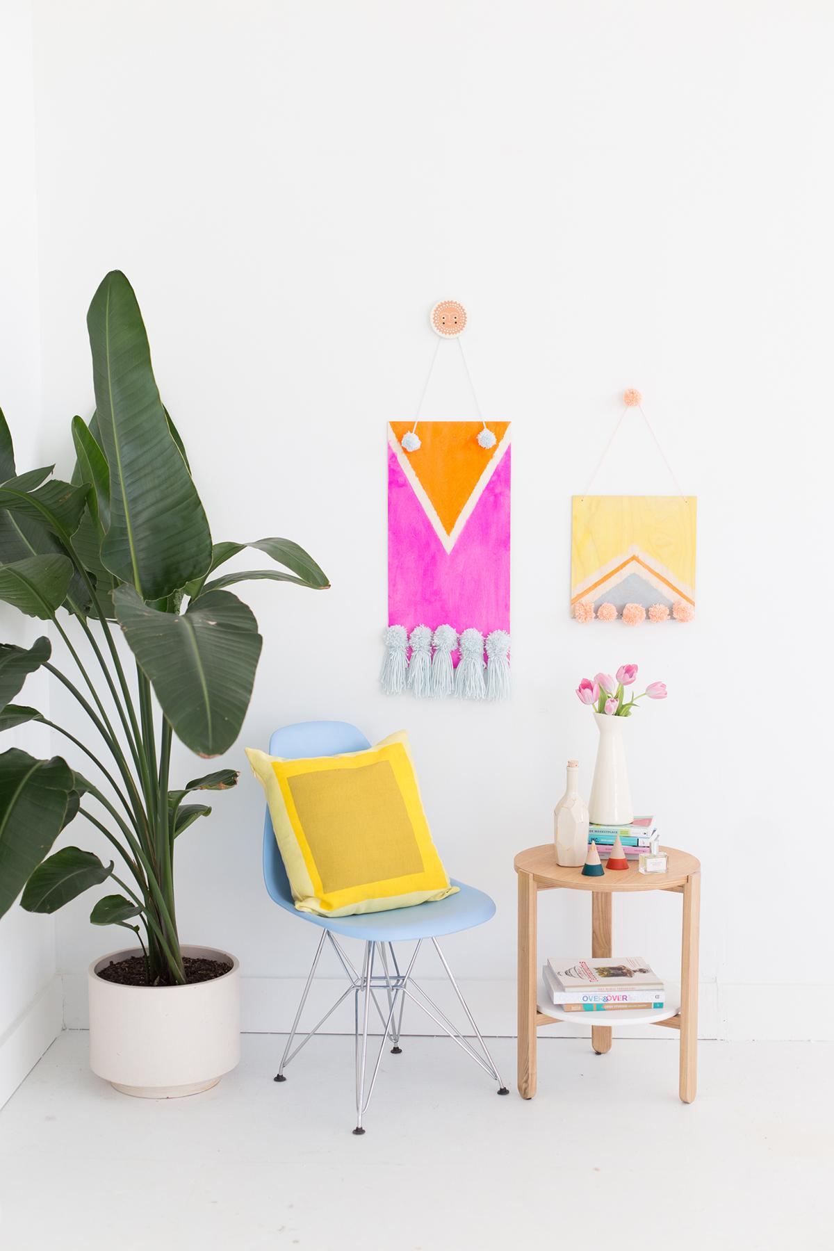 http://www.handmadecharlotte.com/diy-dyed-wall-weavings/