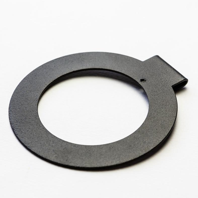 MIDNIGHT, steel coated to a matt textured black finish