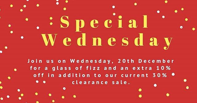 40% off everything on Special Wednesday! 🥂💖🥂💖🥂