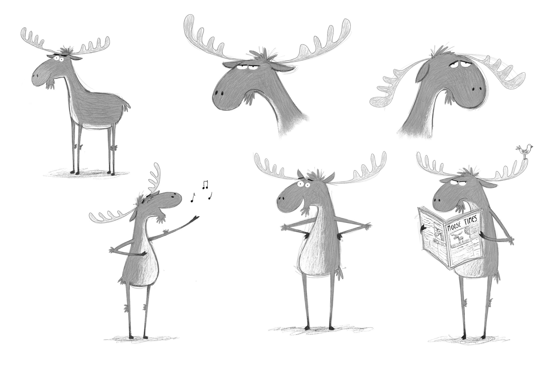 Original moose character concepts