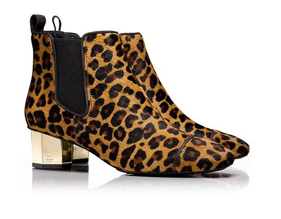 Tory Burch Suede Ocelot Ankle Boot