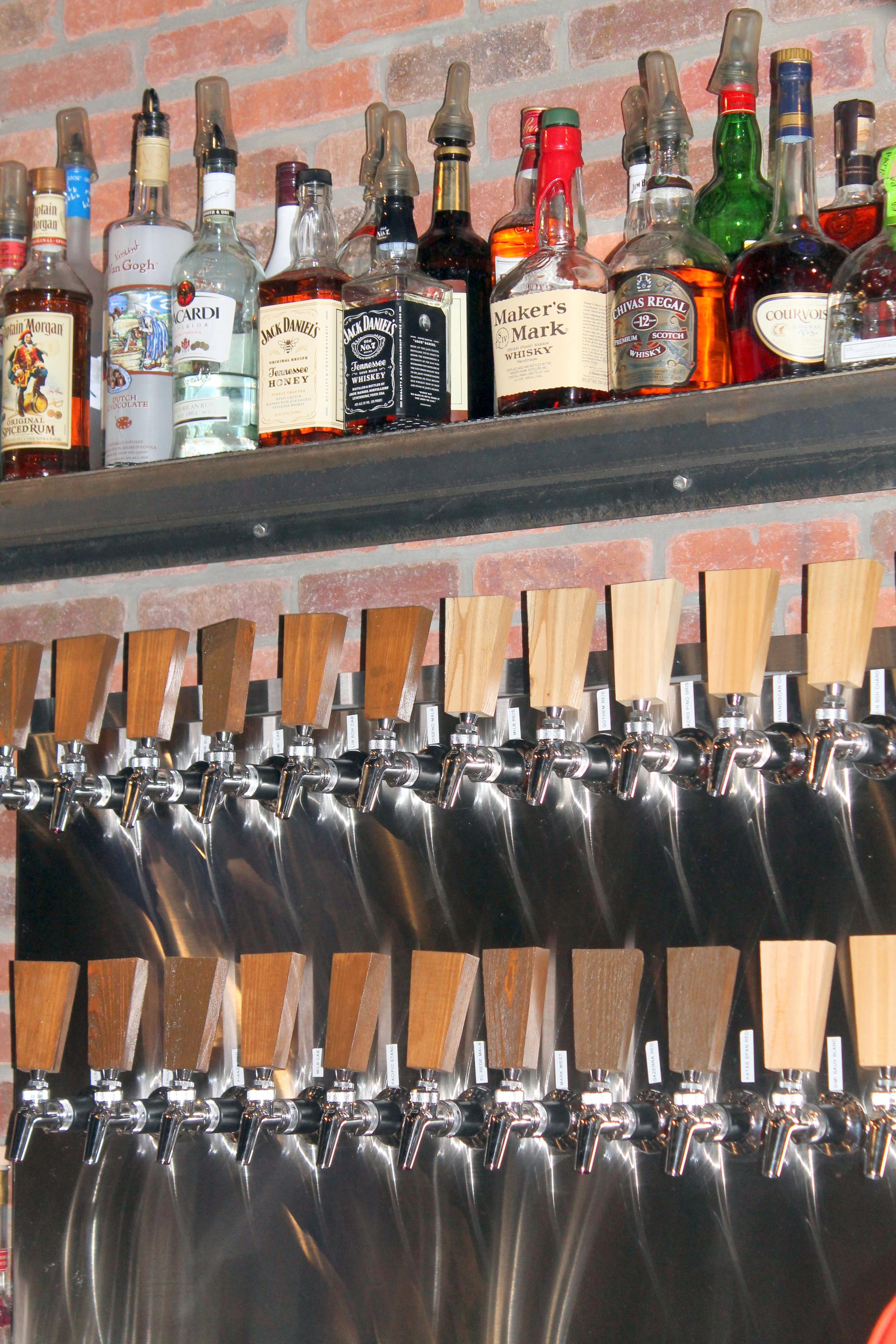 Brick + WOOD, Fairfield CT - Some of the 30 Wines on Tap   Image Jessica Gordon Ryan