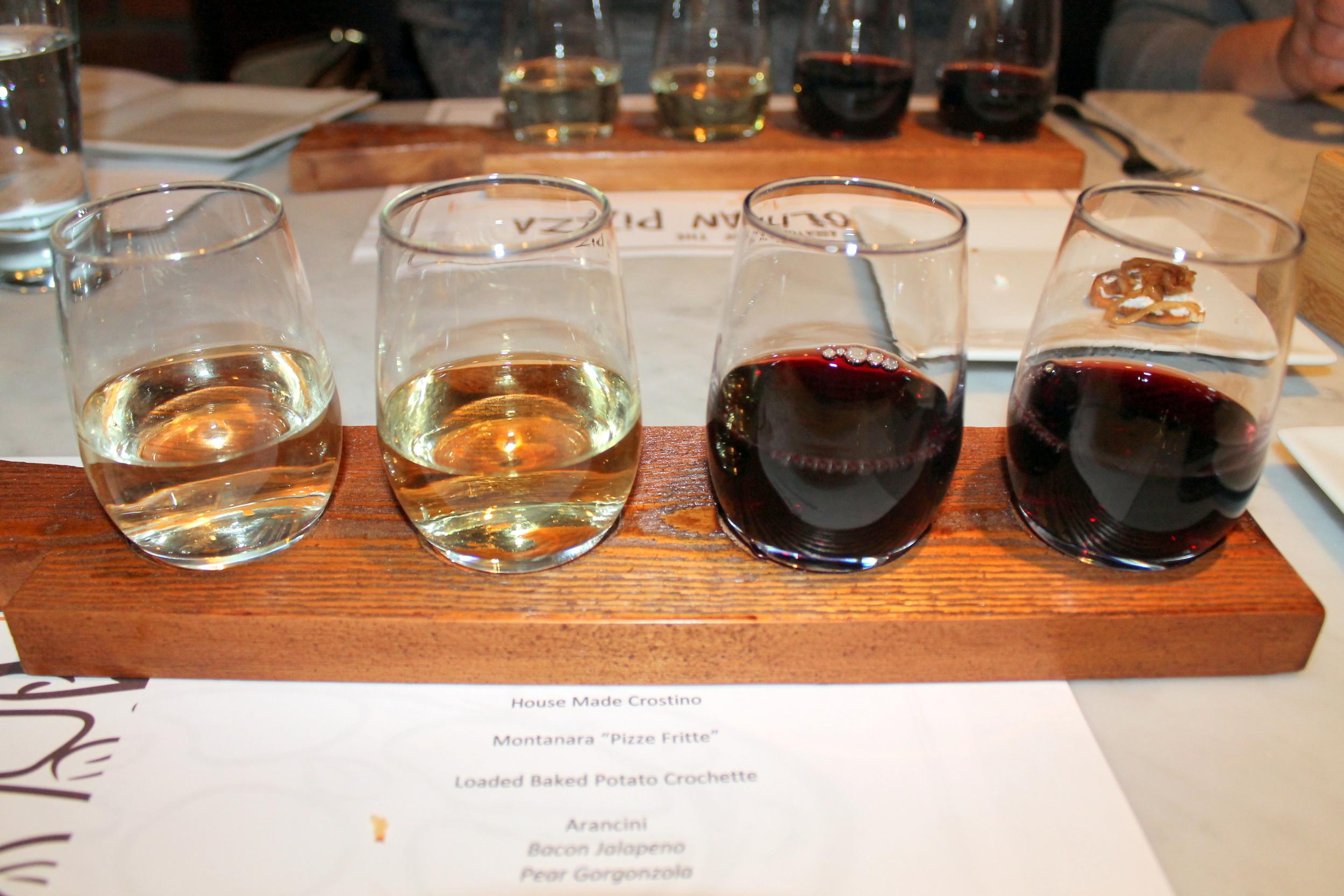 Brick + WOOD, Fairfield CT - Flight of Wine   Image Jessica Gordon Ryan