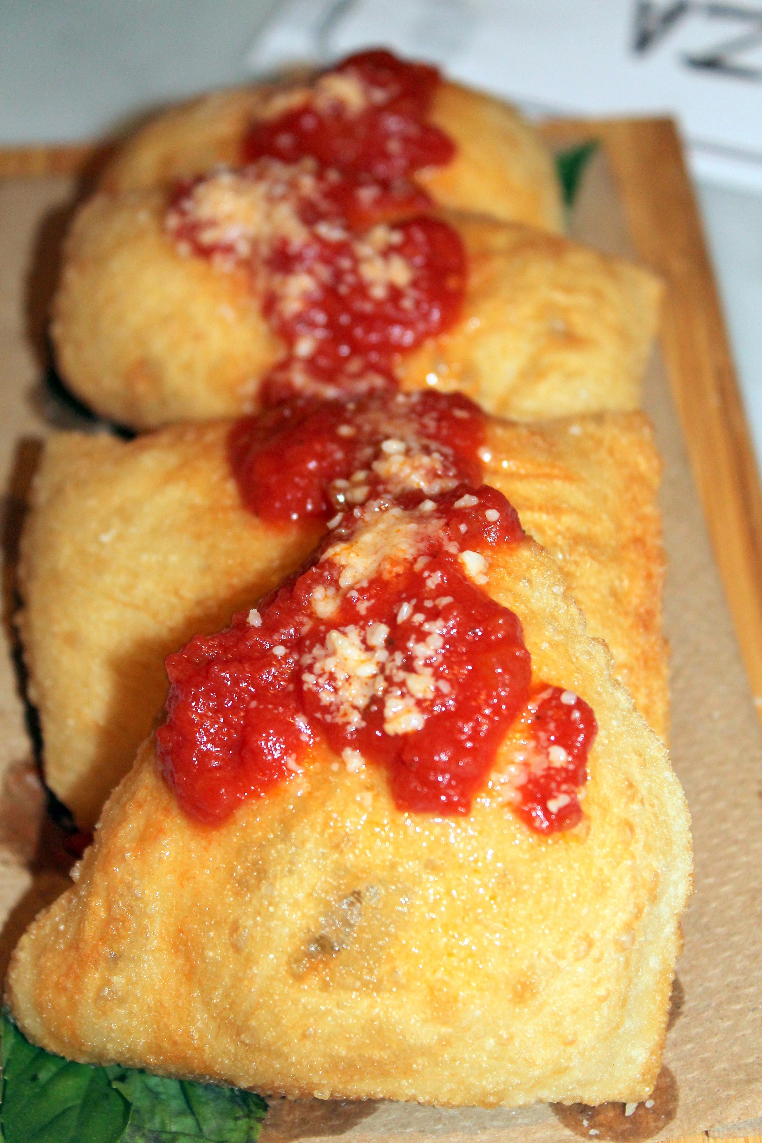 Brick + WOOD, Fairfield CT - Fried pizza dough   Image Jessica Gordon Ryan