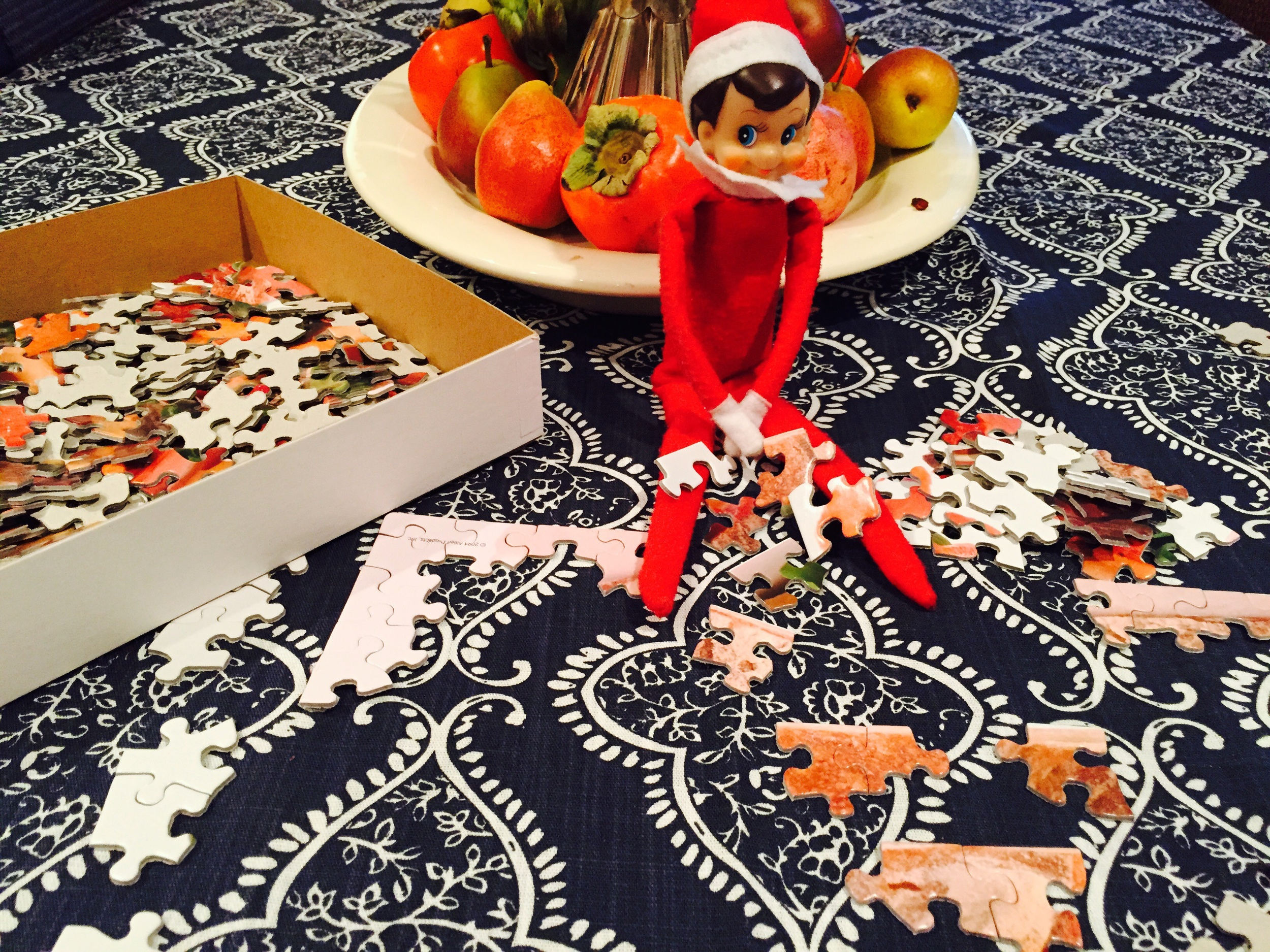 This is what happens when our elf leaves the shelf   via The Entertaining House