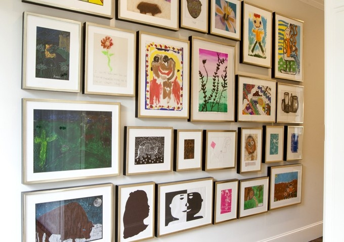 The best ways to display children's art Image via Laura Singleton Interiors