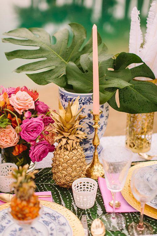 The pineapple in Interior Design - Image via Brides Magazine