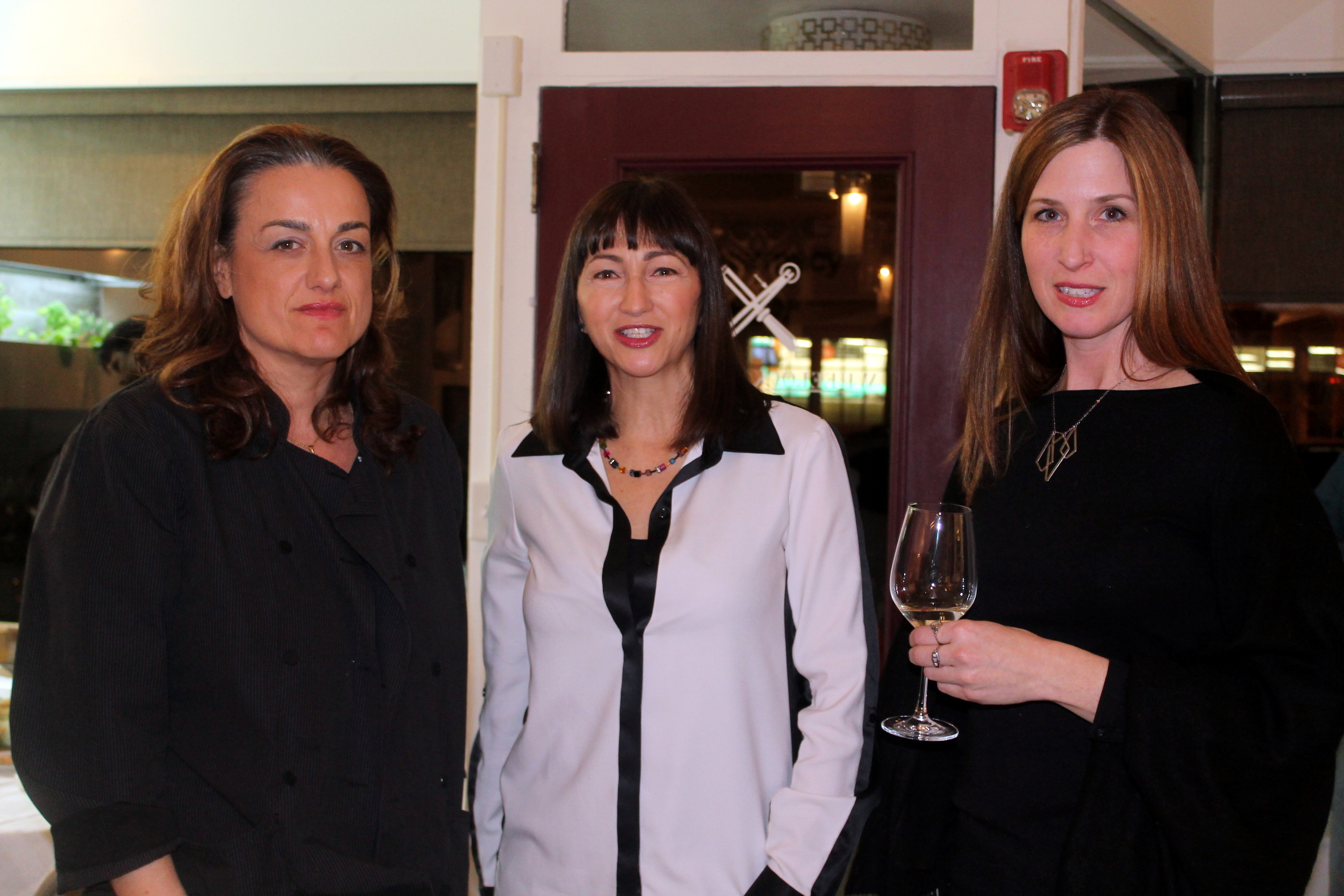 Silvia Baldini, Chef, Strawberry and Sage; Analiese Paik, Owner/Editor, Fairfield Green Food Guide; Jennifer Young, Wheelock Maidique