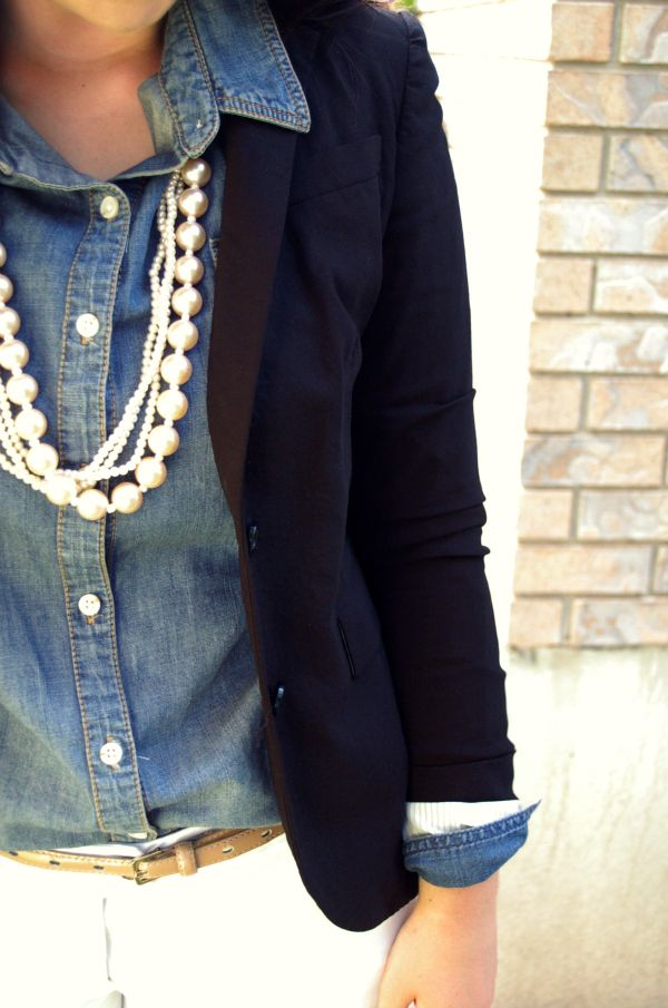 A classic wardrobe always has a well fitted navy blazer,