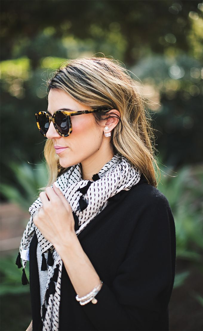 Classics like tortoise shell glasses and black never fade from style