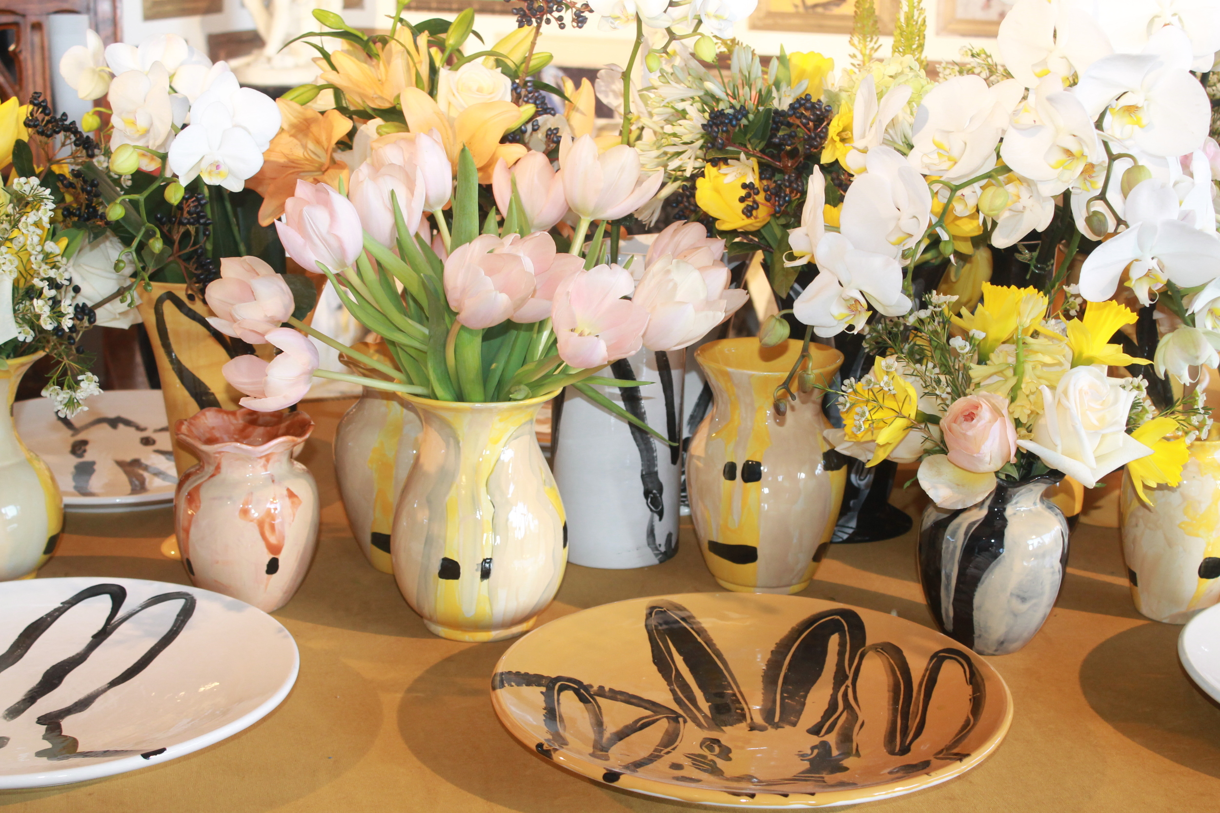 These wonderful plates by Slonem for Kravet would look lovely on my Easter table!   Image property of Jessica Gordon Ryan.