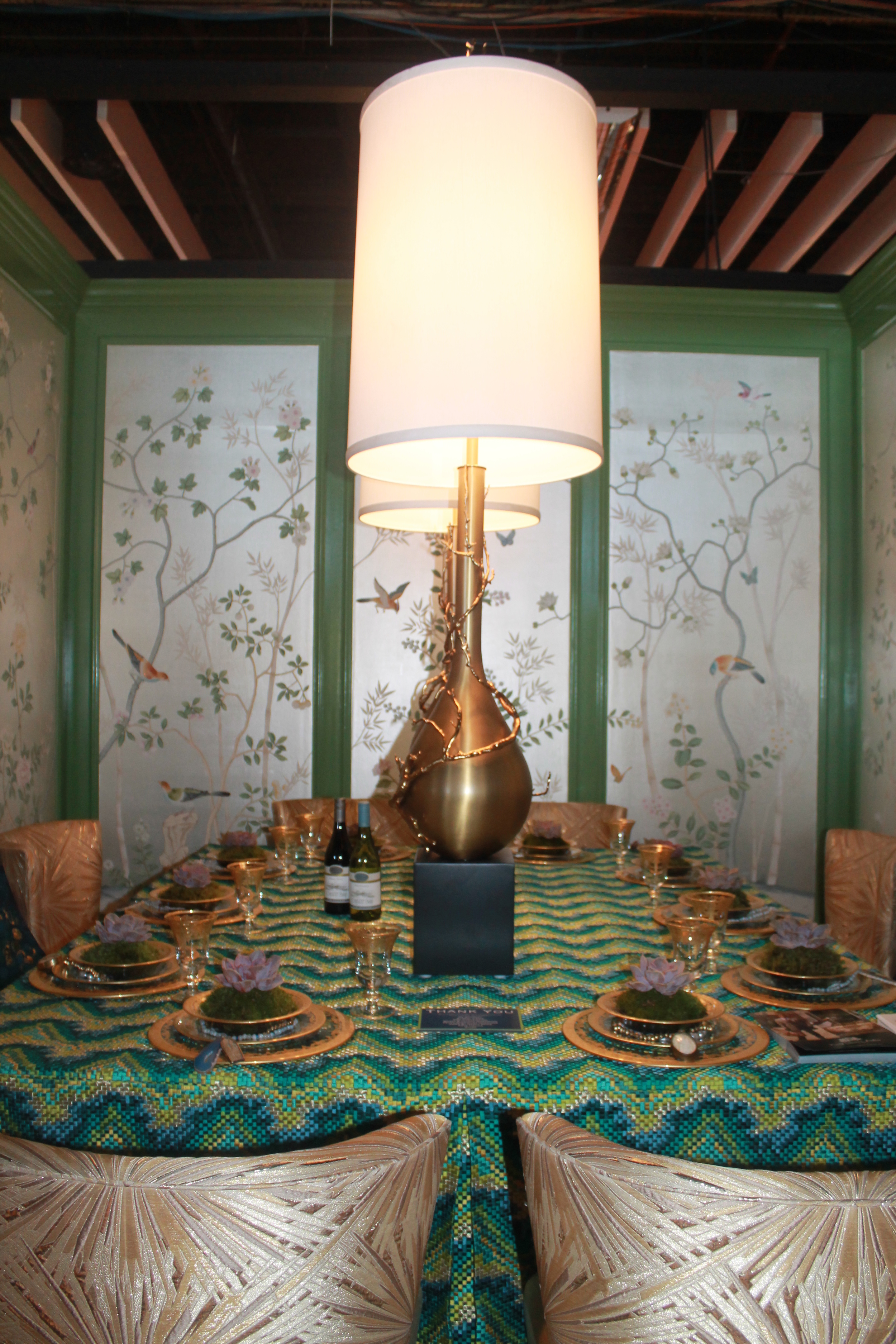"Corey Damen Jenkins ""Branches Out"" with Beacon Hill Designs. Inspired by the organic beauty of Rio de Janeiro this table's careful and intricate setting plays homage to the city's sophisticated and edgy design combined with that of the bohemian.   Image property of Jessica Gordon Ryan."