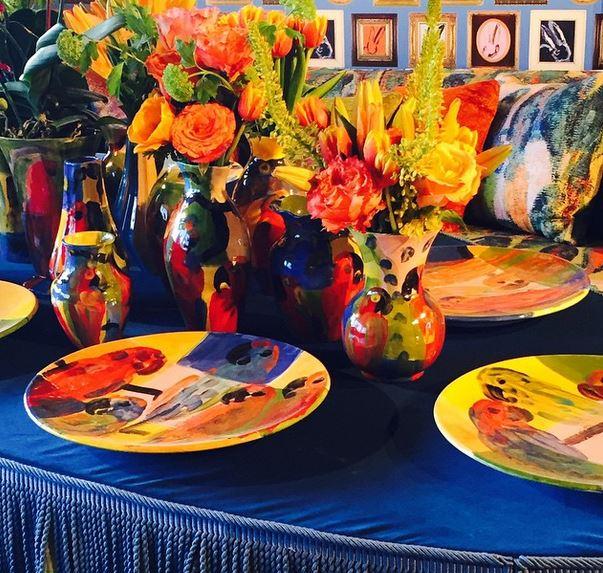 Detail of the Kravet table.Image property of Jessica Gordon Ryan.