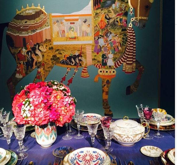 Hermes DIFFA table Detail. Image via Jessica Gordon Ryan.