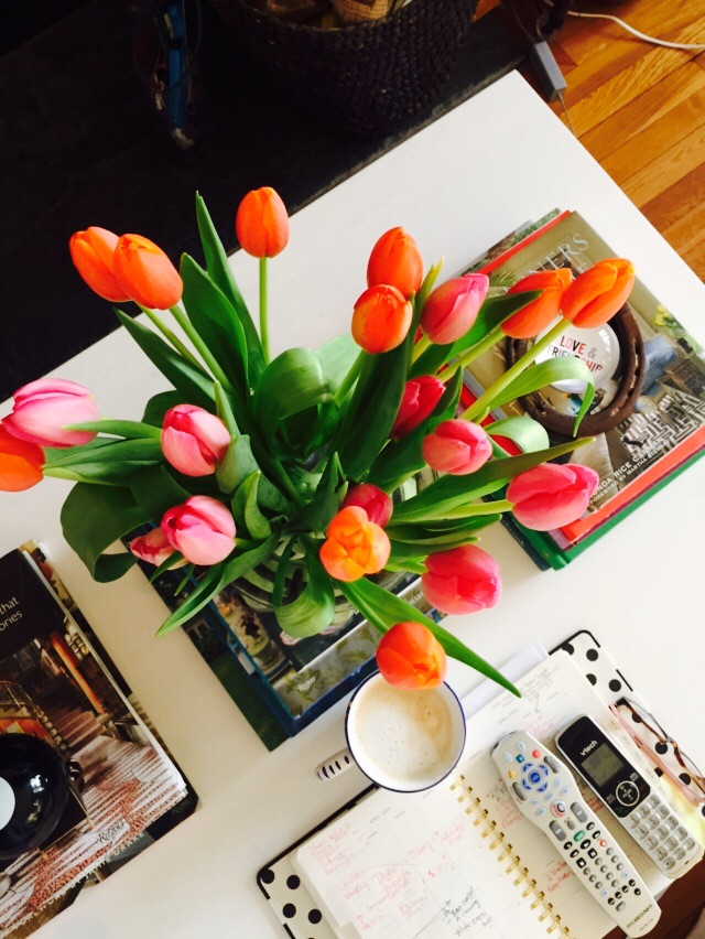 Fresh Flowers, Day 2. They seem to be more upright than they were on Day 1. Image via The Entertaining House