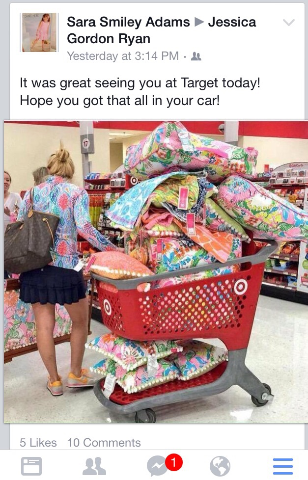 My friend posted this on my Facebook page yesterday. Those were the pillows I had wantedfor my daughter's room! I don't think our Target store had that many pillows in its inventory.This is shameful and there should really have been an item limit per person. (I have no idea who took this brilliantphoto but I will give you credit if you reach out to me.)