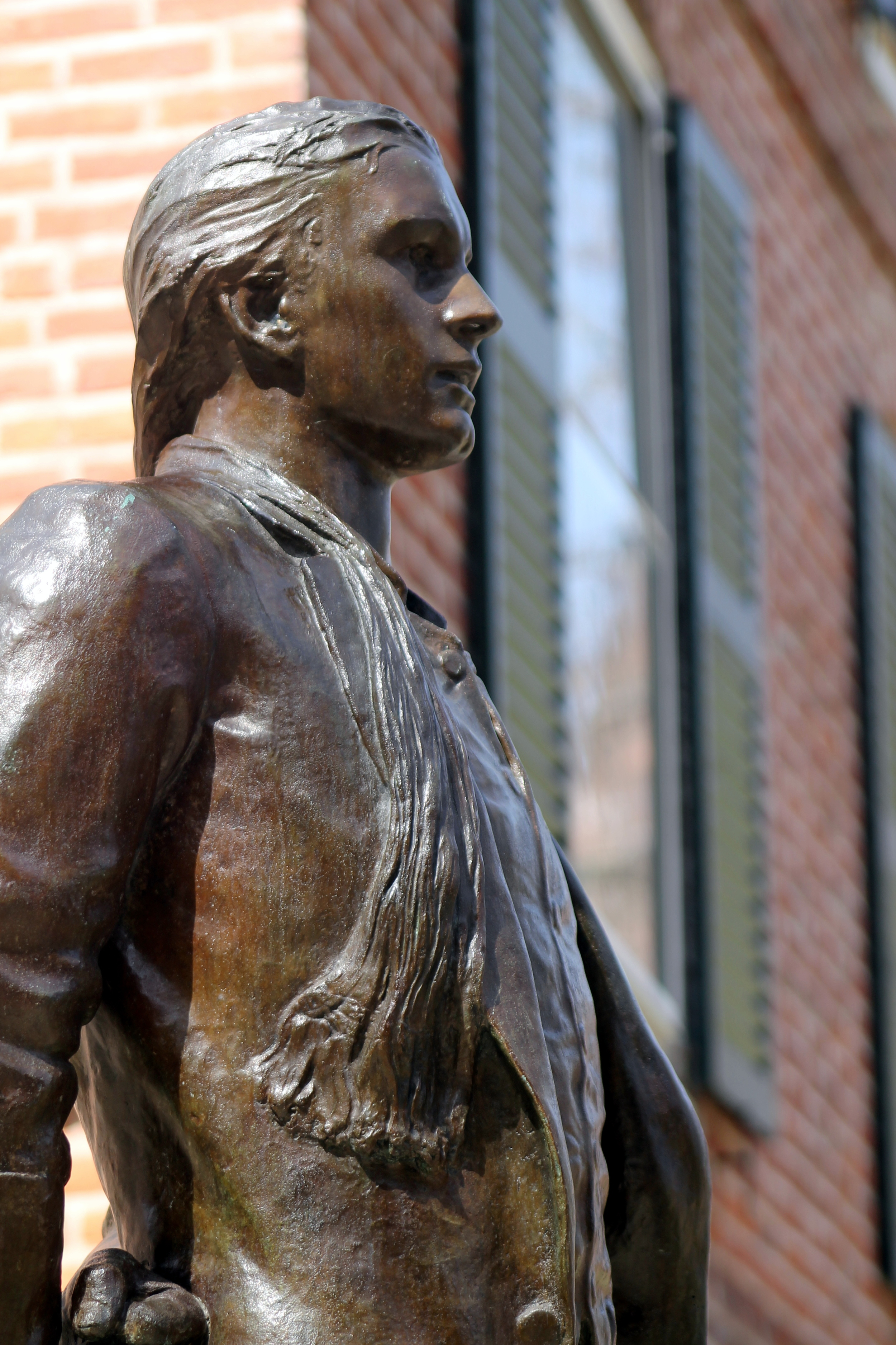 Statue Detail. Nathan Hale. Yale University. Image property of Jessica Gordon Ryan
