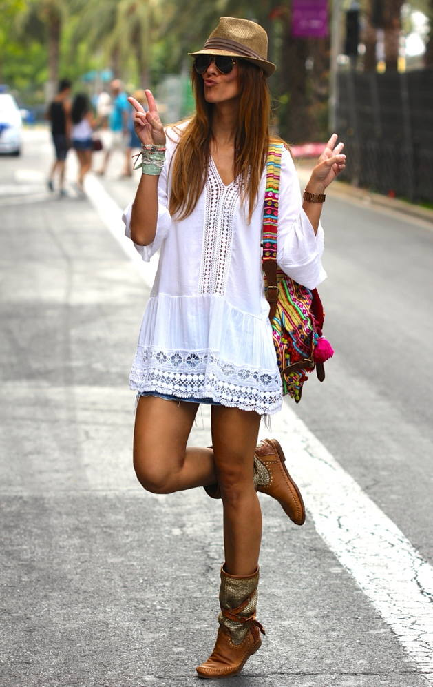 Nothing says peace love and rock and roll like a tunic! Image via  Like a Princess by Kuka