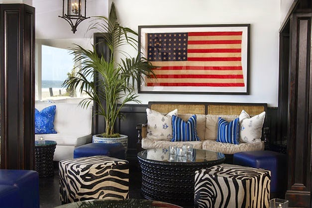 New Uses For Old Things The American Flag Is The Consummate Home Accessory The Entertaining House