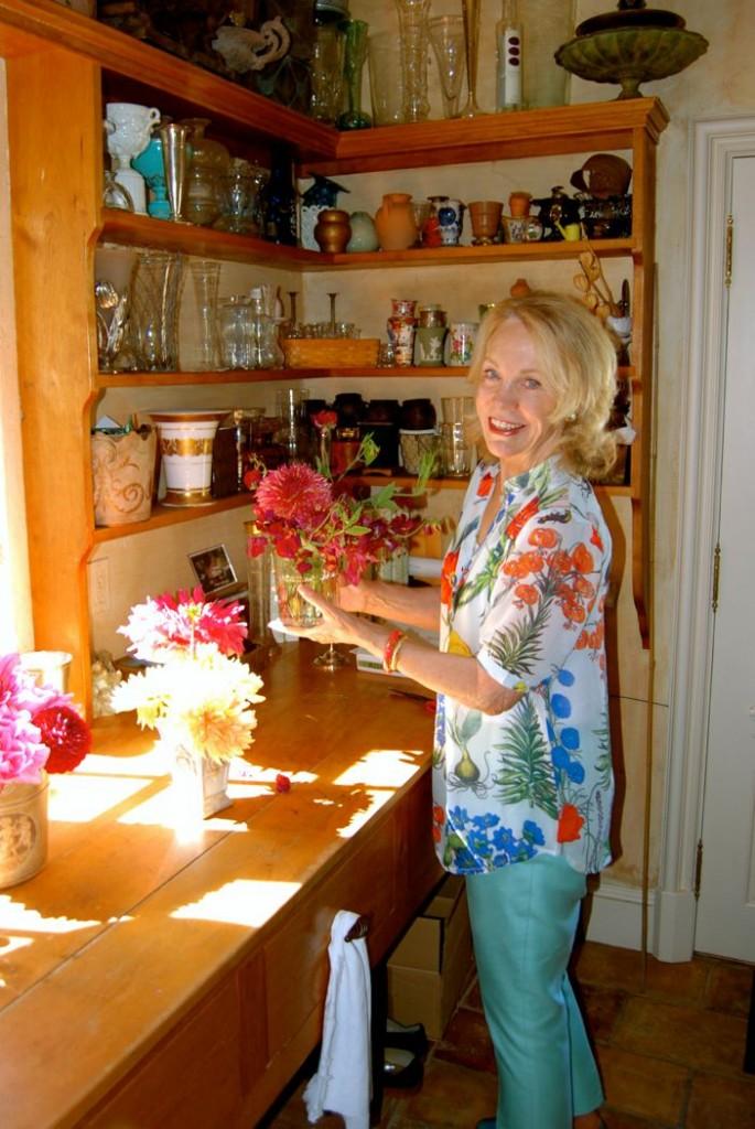 Bettie Bearden Pardee in her Newport, Rhode Islandmudroom. Image via Meaghan O'Neill,  Puddingstone Post