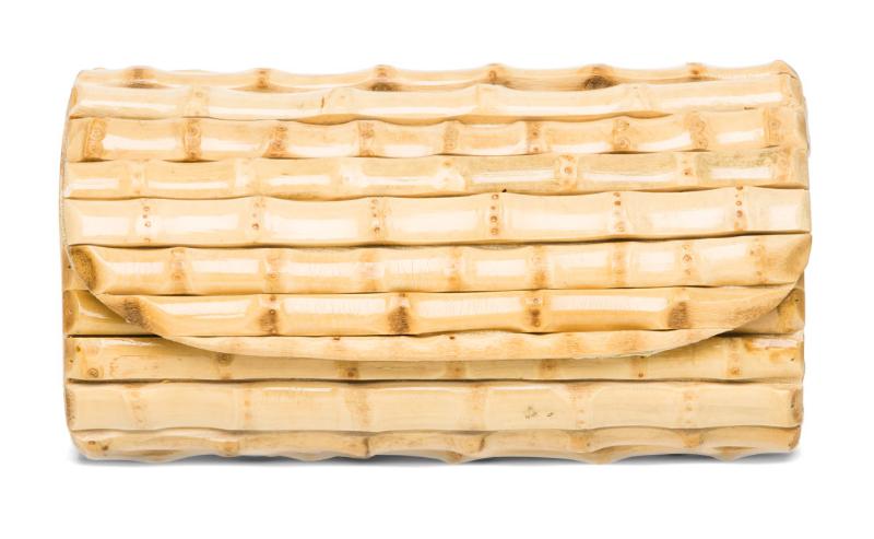 J. McLaughlin  Bamboo Clutch, $155