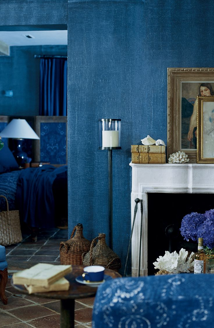 For the rustic sophisticate. Ralph Lauren may be the King of Indigo. This deep denim hue colored wall paint is available at Home Depot. Image via Home Depot.