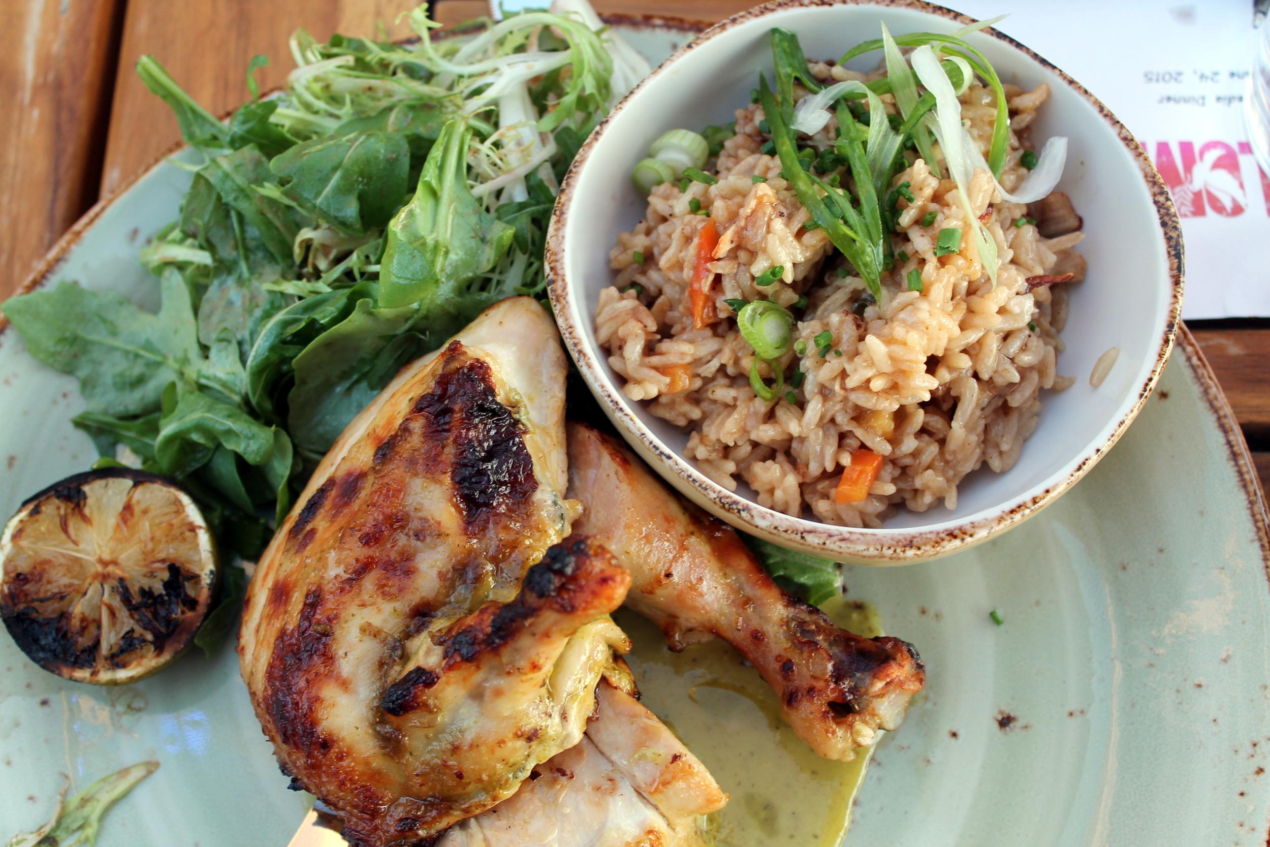 Cuban Style Chicken.Paloma, Stamford CT. Image via Jessica Moseley Gordon