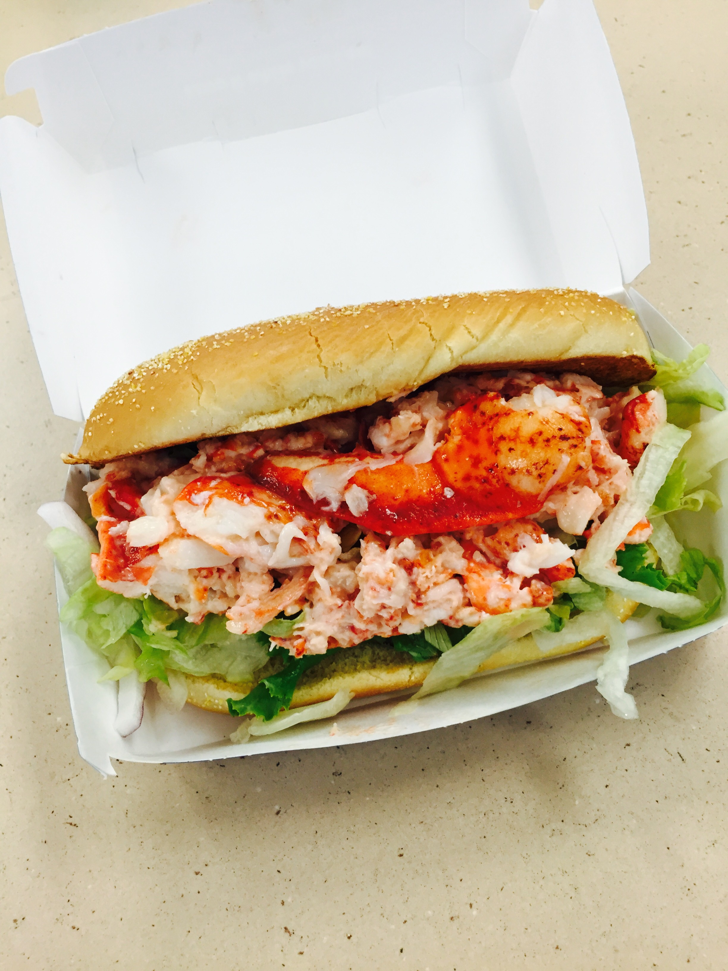 The McDonald's Lobster Roll. Image property Jessica Gordon Ryan. Taken with an iPhone 6.