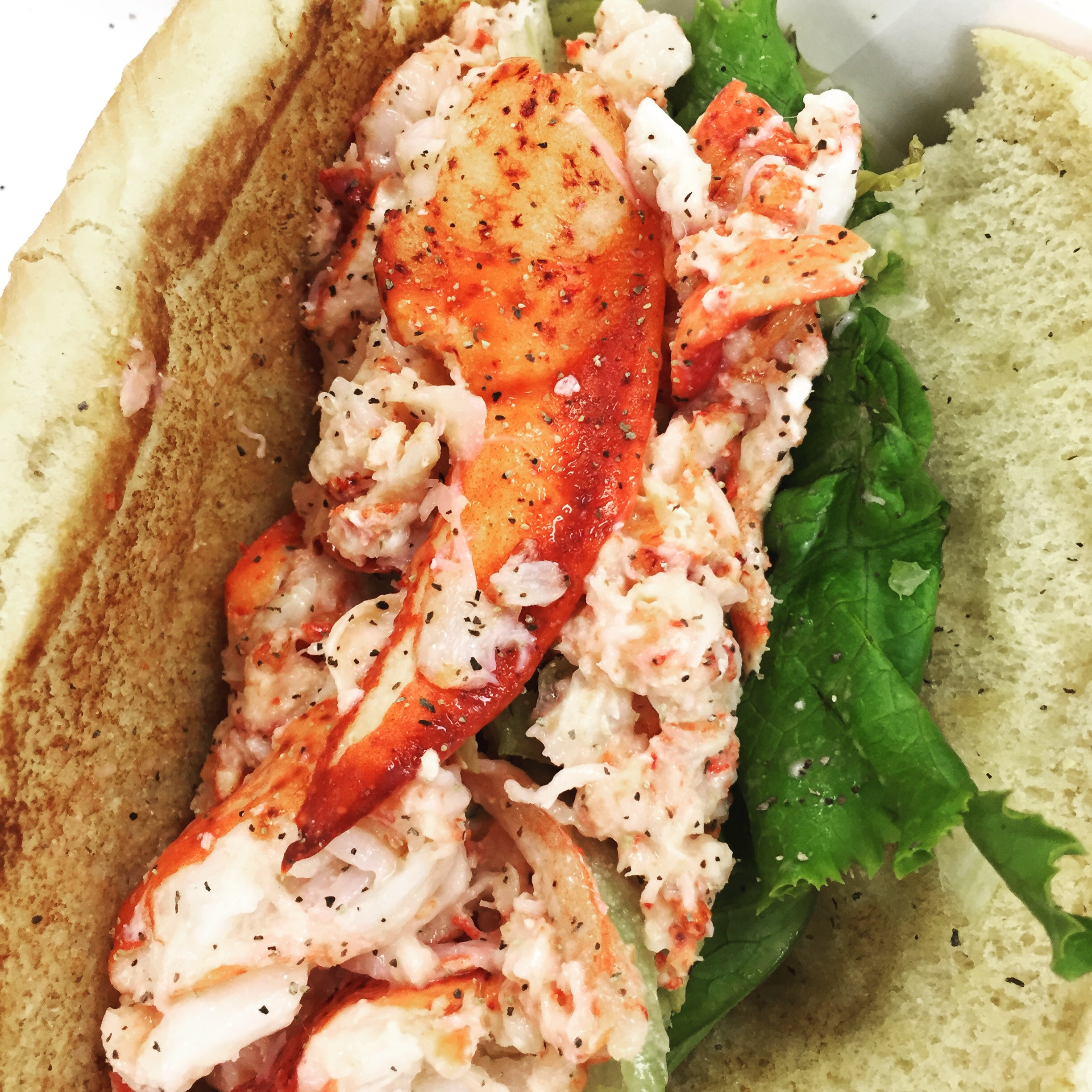 The McDonald's Lobster Roll. Image Jessica Gordon Ryan (taken with an iPhone6)