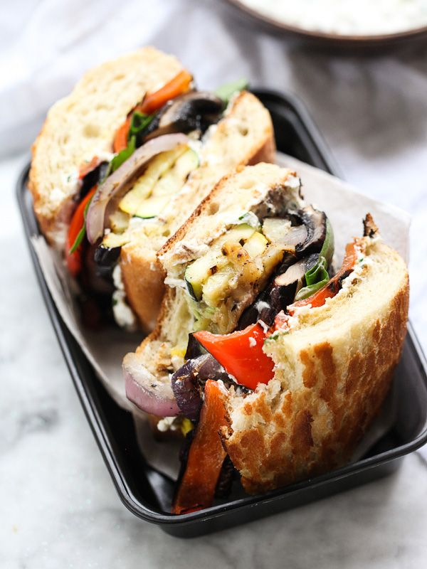 Grilled vegetables, cheese and bread. Simple, Satisfying, Sublime. In the summertime sometimes you don't want that heavy protein weighing you down.  FoodieCrush has the recipe.