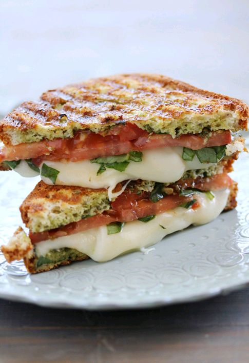 Food.com  has the Caprese Panini perfected. Because sometimes you warm warm, runny, gooey cheese.