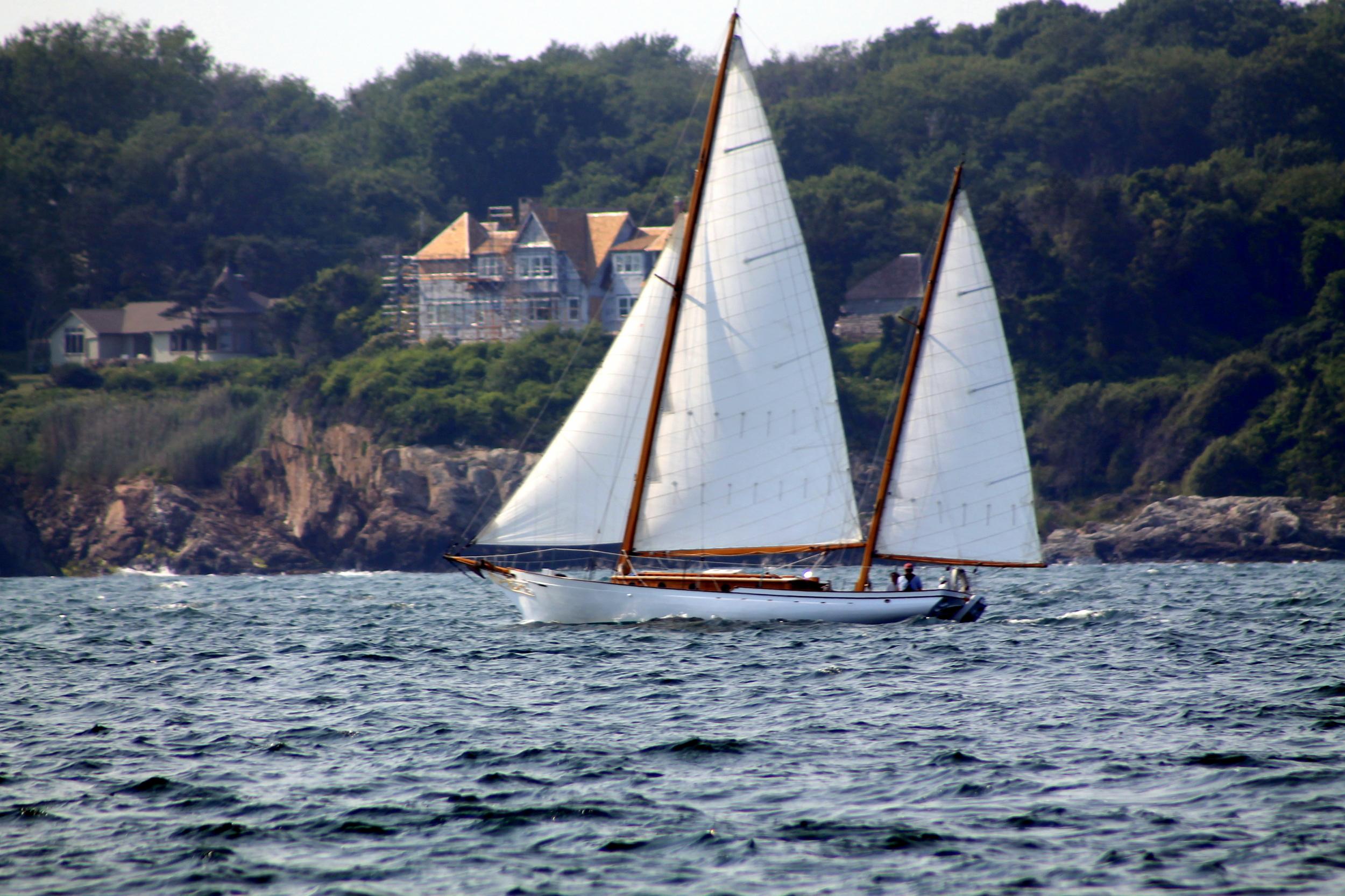 Set sail in Newport aboard America's Cup Charters. Image Jessica Gordon Ryan