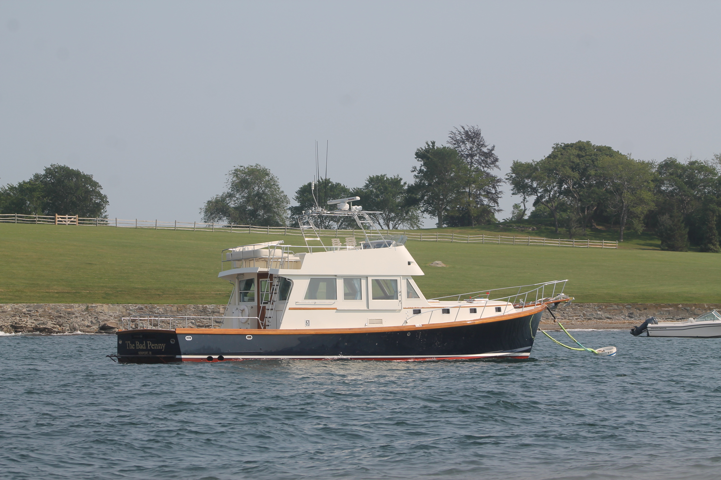 Boat anchored at Hammersmith Farm