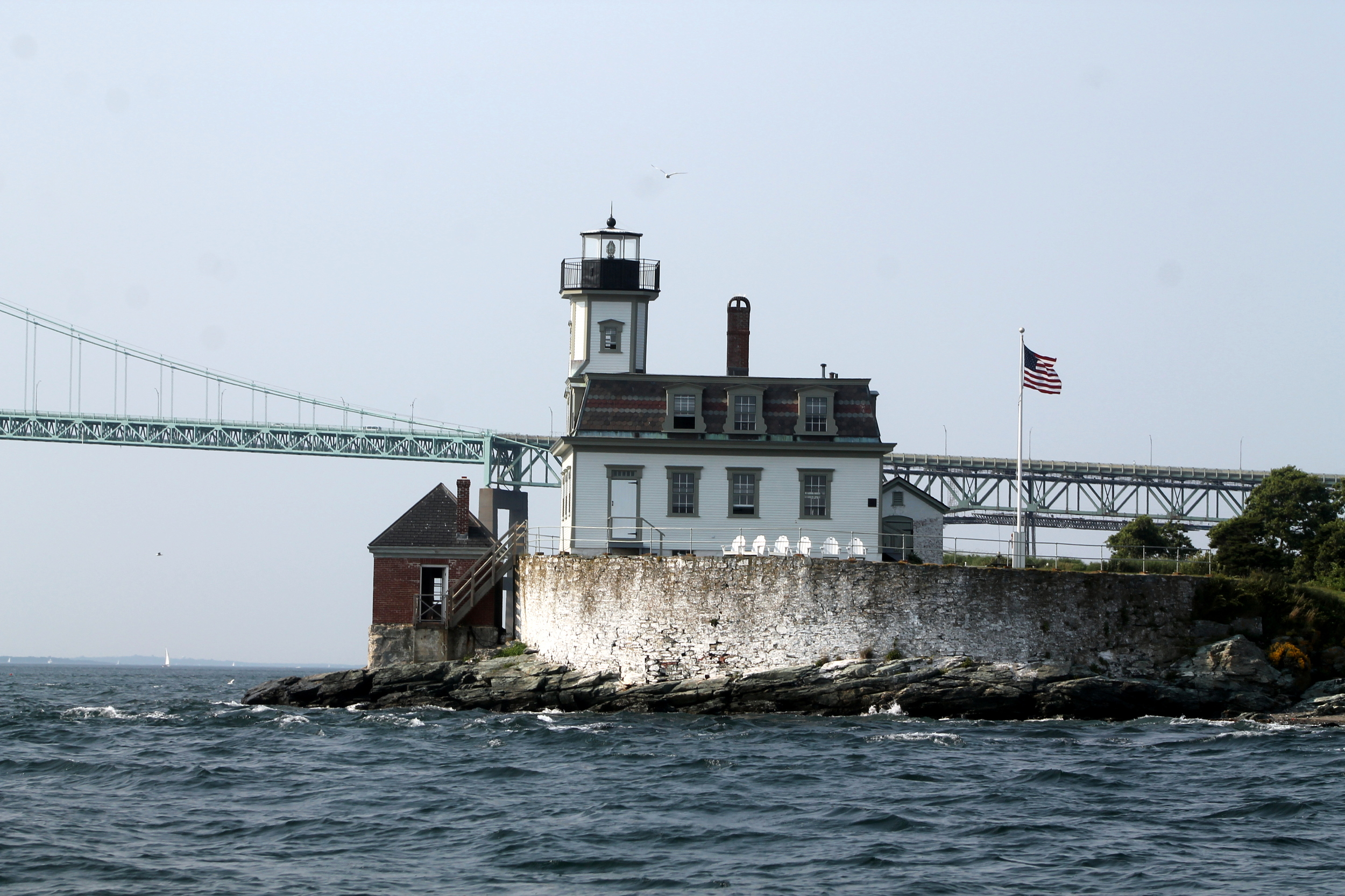 Rose Island Lighthouse, Newport, RI. Image via Jessica Gordon Ryan