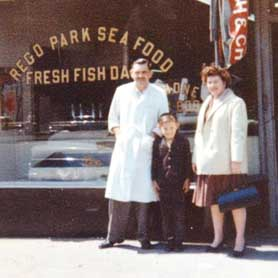 "Saltaire Oyster Bar and Fish House. Owner Leslie ""Les"" Barnes and his father."