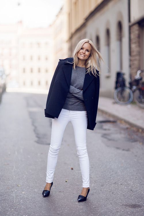 How to wear white after Labor Day. Image via Street Style, Tumblr
