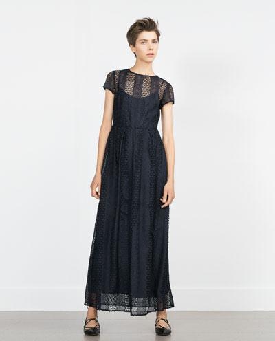 Eyelet Maxi dress by Zara