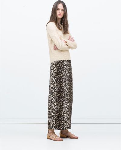 Leopard Print Maxi skirt by Zara