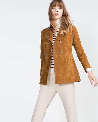 Suede Jacket by Zara