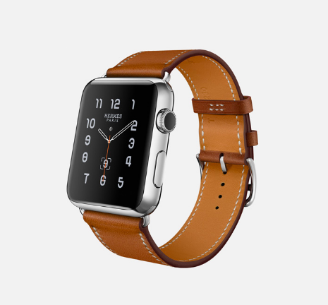 iPhone Watch with Hermés Strap. Image via Apple