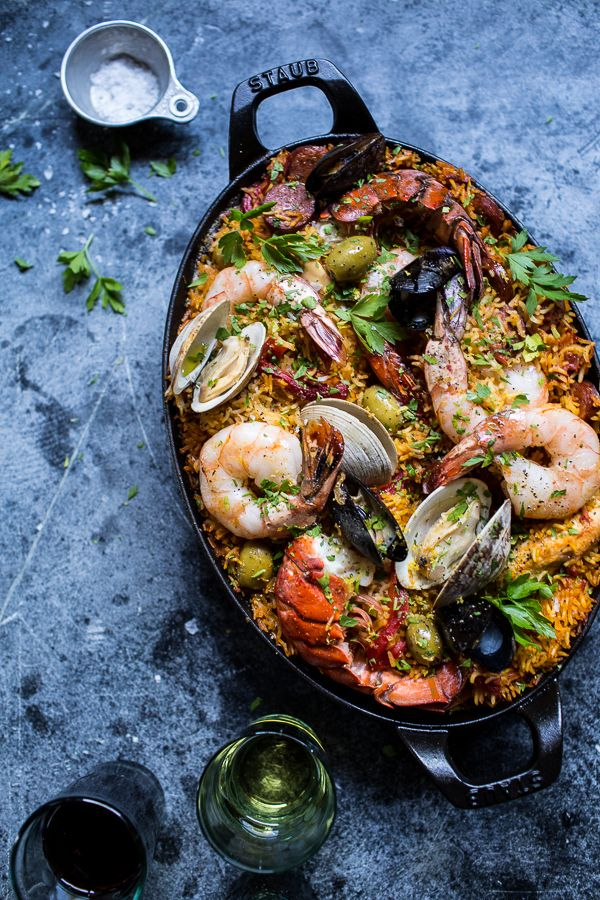 Paella Party 101 - The Entertaining House. Image via  Half Baked Harves t
